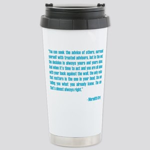 MEREDITH QUOTE Stainless Steel Travel Mug