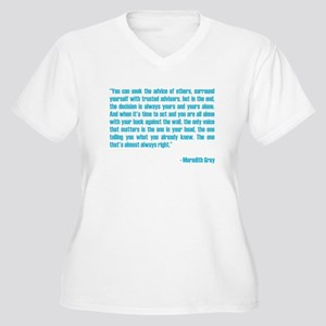 MEREDITH QUOTE Women's Plus Size V-Neck T-Shirt