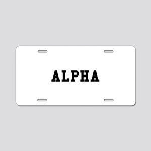 Alpha Aluminum License Plate