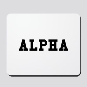 Alpha Mousepad