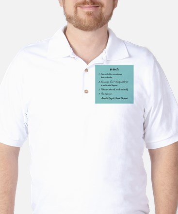 POST-IT NOTE VOWS Golf Shirt