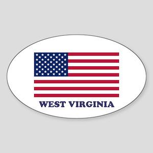 West Virginia Sticker (Oval)
