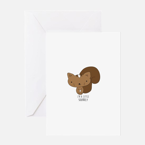 A Little Squirrely Greeting Cards
