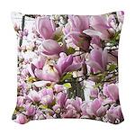 Magnolia Madness Woven Throw Pillow