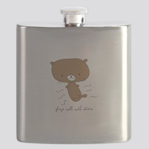 Plays Well With Otters Flask