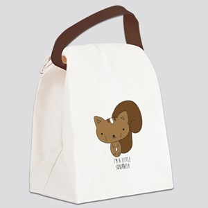 A Little Squirrely Canvas Lunch Bag