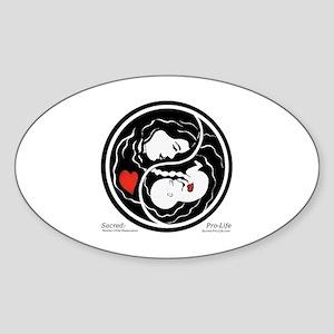 Sacred-Pro-Life TM Sticker (Oval)