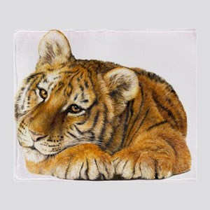 young tiger Throw Blanket