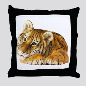 young tiger Throw Pillow