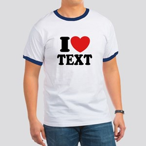 I Heart Personalized Ringer T