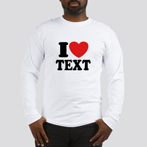 I Heart Personalized Long Sleeve T-Shirt