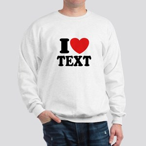 I Heart Personalized Sweatshirt