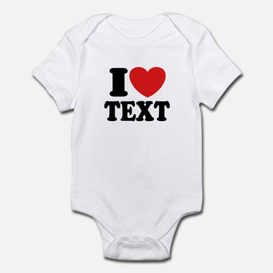 I Heart Personalized Infant Bodysuit