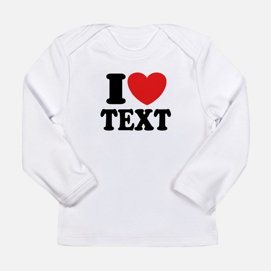 I Heart Personalized Long Sleeve Infant T-Shirt