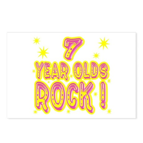 7 Year Olds Rock ! Postcards (Package of 8)