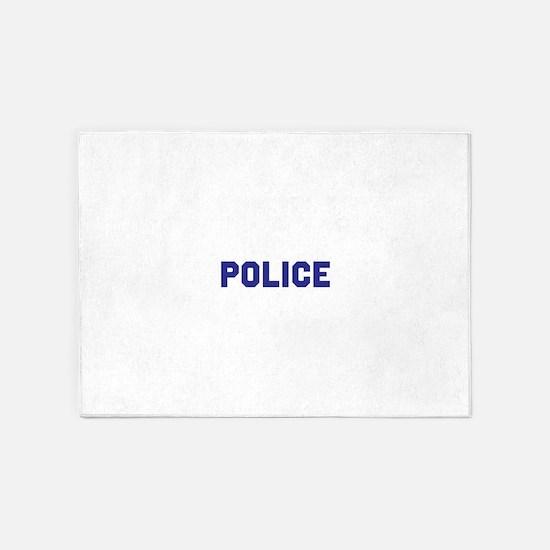 POLICE 5'x7'Area Rug