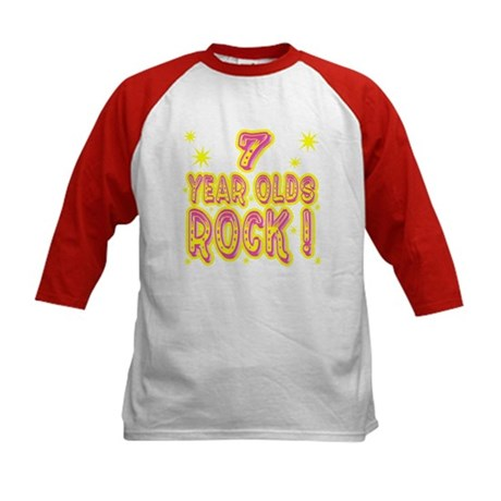 7 Year Olds Rock ! Kids Baseball Jersey