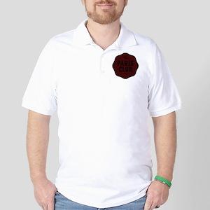 Paris Club Maroon Red Dark Golf Shirt