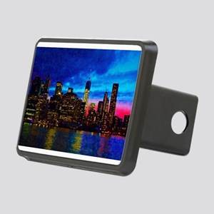 REFLECTIONS OF THE CITY Rectangular Hitch Cover