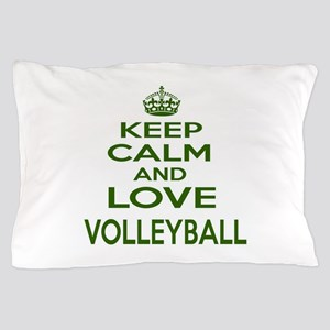 Keep calm and love Volleyball Pillow Case