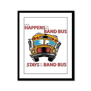 What Happens on the Band Bus Framed Panel Print