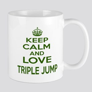 Keep calm and love Triple Jump 11 oz Ceramic Mug