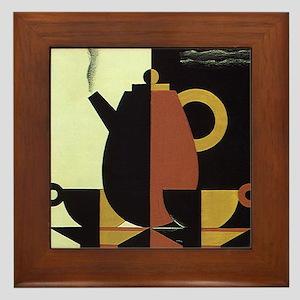 Vintage Coffee Framed Tile