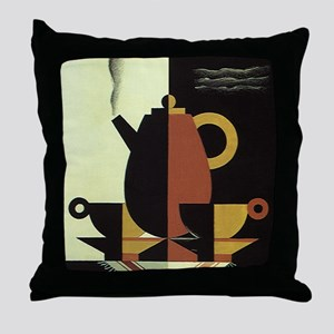 Vintage Coffee Throw Pillow