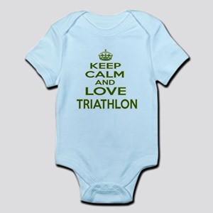 Keep calm and love Triathlon Baby Light Bodysuit