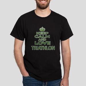 Keep calm and love Triathlon Dark T-Shirt