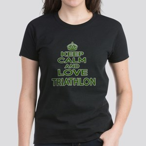Keep calm and love Triathlon Women's Dark T-Shirt