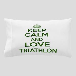 Keep calm and love Triathlon Pillow Case