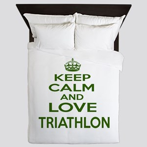 Keep calm and love Triathlon Queen Duvet
