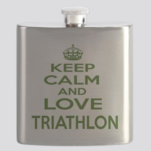 Keep calm and love Triathlon Flask