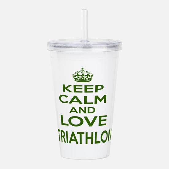 Keep calm and love Tri Acrylic Double-wall Tumbler