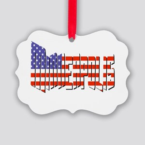 Patriotic Minneapolis Ornament