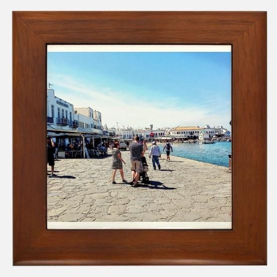 Postcard From Greece Framed Tile