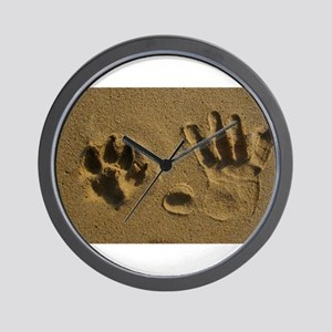 Best Friends Hand Prints Wall Clock