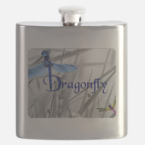 Blue Dragonfly Flask