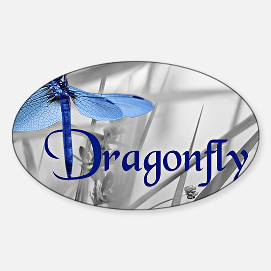 Blue Dragonfly Decal