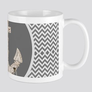 shabby chic anchor chevron Mugs