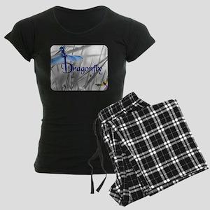 Blue Dragonfly Women's Dark Pajamas