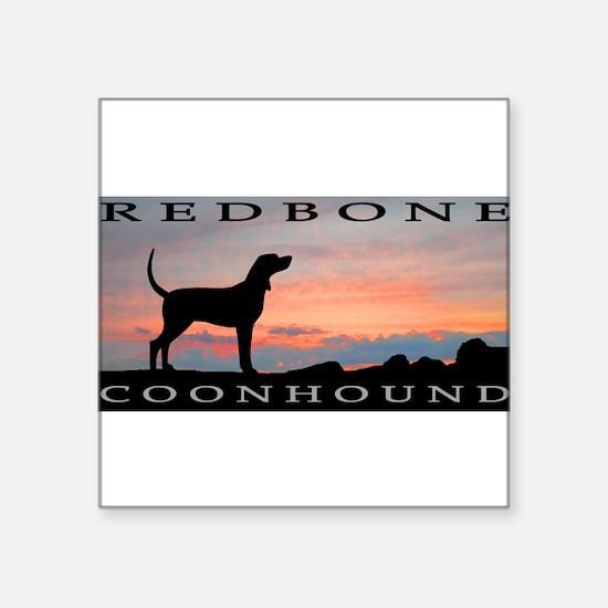 """Cute Coonhound Square Sticker 3"""" x 3"""""""