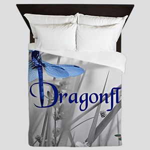 Blue Dragonfly Queen Duvet