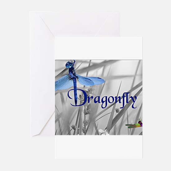 Blue Dragonfly Greeting Cards