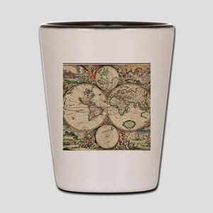 Antique World Map Shot Glass