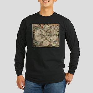 Antique World Map Long Sleeve T-Shirt