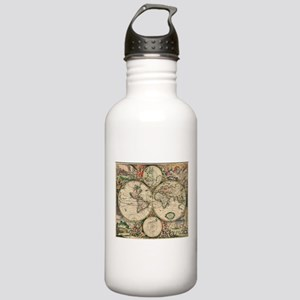 Antique World Map Stainless Water Bottle 1.0L