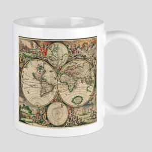 Antique World Map Mugs