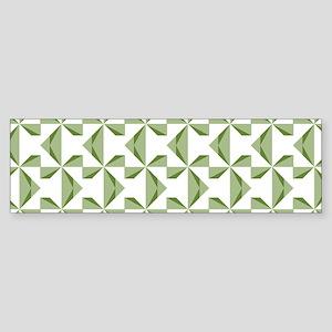 Green Pinwheels Sticker (Bumper)